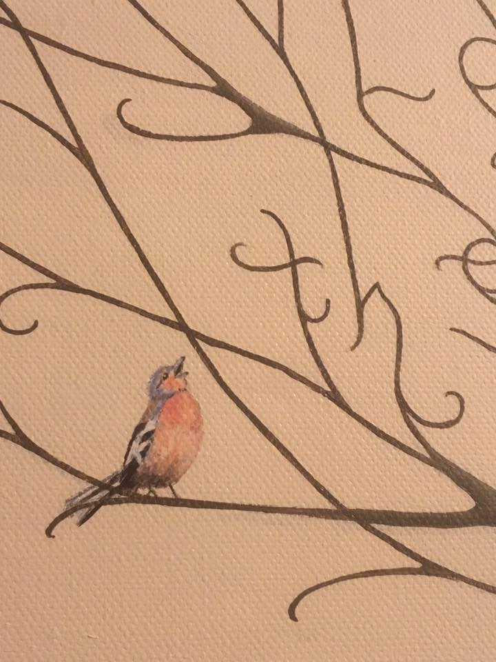Treespeake tree art commissions - bird detail