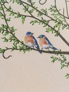 Treespeake bird detail - wedding commissions