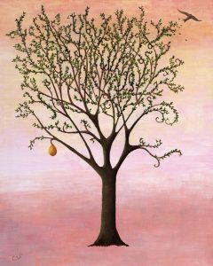 Tolkien-inspired art - tree painting by Treespeake